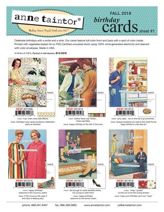 Anne Taintor Fall 2018 Cards