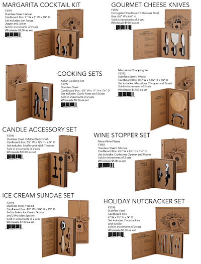 Santa Barbara Design Studio TABLESUGAR Cardboard Set Sell Sheet