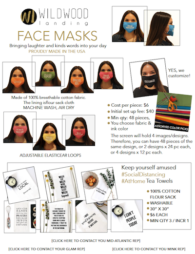 Wildwood Landing Face Masks Sell Sheet