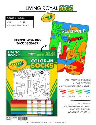 Living Royal New Crayola Color-In Socks