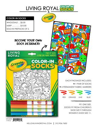 Living Royal Color-In Socks