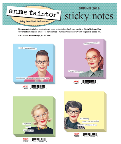 Anne Taintor Sticky Notes 2019