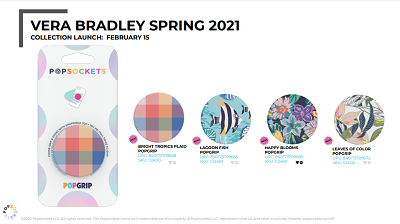 PopSockets Vera Bradley Spring 2021 Sell Sheet