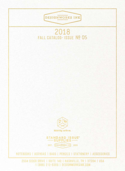 Designworks Ink 2018 Fall Catalog Issue No. 5