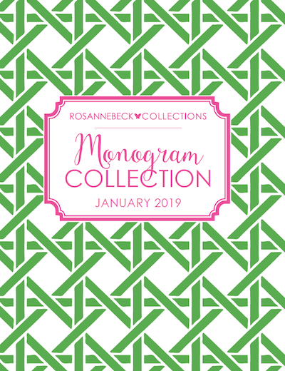 Rosanne Beck Collections Monogram Collection 2019